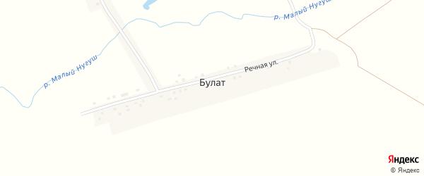 Речная улица на карте деревни Булата с номерами домов