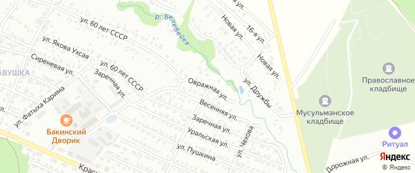 Овражная улица на карте Белебея с номерами домов