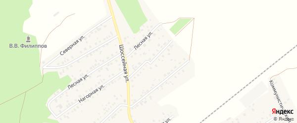 Нагорный переулок на карте села Кандры с номерами домов