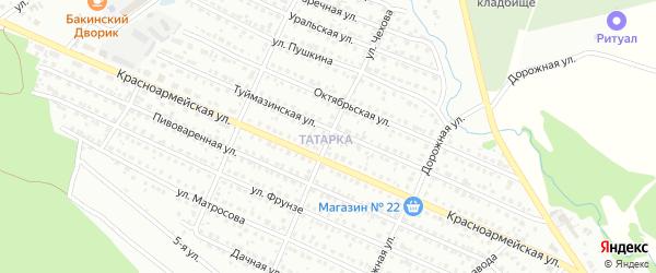 Улица Чехова на карте Белебея с номерами домов