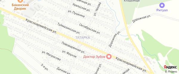Туймазинская улица на карте Белебея с номерами домов