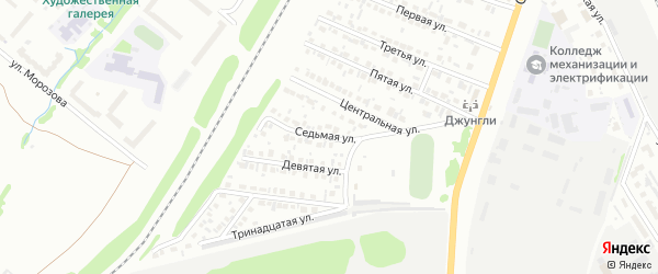 Седьмая улица на карте Микрорайона Надежды с номерами домов