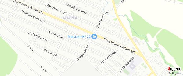 Дорожная улица на карте Белебея с номерами домов