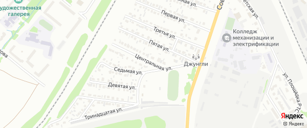 Центральная улица на карте Белебея с номерами домов