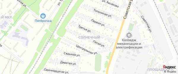 Восьмая улица на карте района Солнечного микрорайона с номерами домов