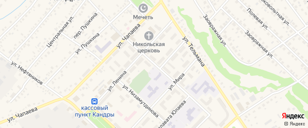 Улица Крупской на карте села Кандры с номерами домов