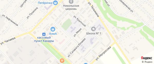 Улица Мира на карте села Кандры с номерами домов