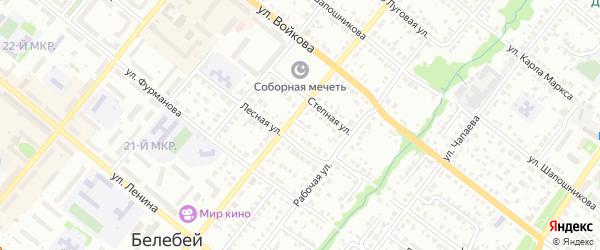 Лесной тупик на карте Белебея с номерами домов