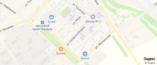 Улица С.Юлаева на карте села Кандры с номерами домов