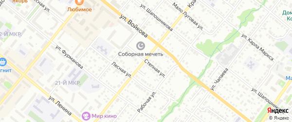 Степная улица на карте Белебея с номерами домов