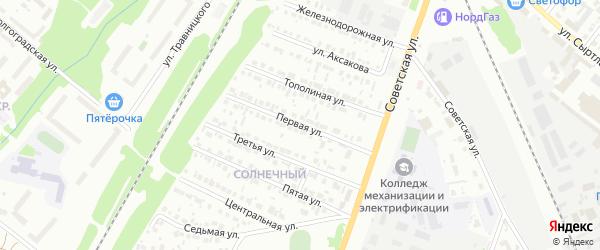 Первая улица на карте района Чайковки микрорайона с номерами домов