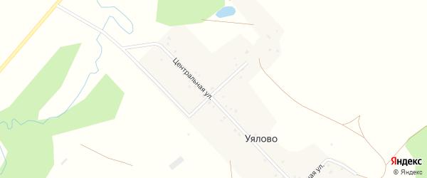 Центральная улица на карте деревни Уялово с номерами домов