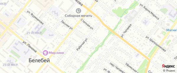 Уфимская улица на карте Белебея с номерами домов