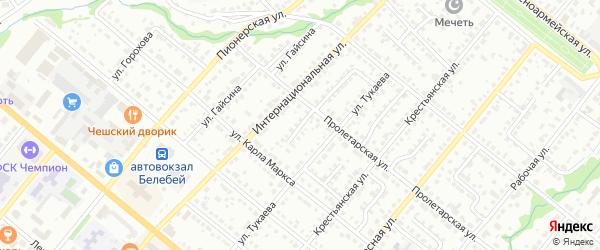 Тукаевский 2-й переулок на карте Белебея с номерами домов
