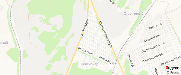 СТ Строитель 1 на карте Белебея с номерами домов