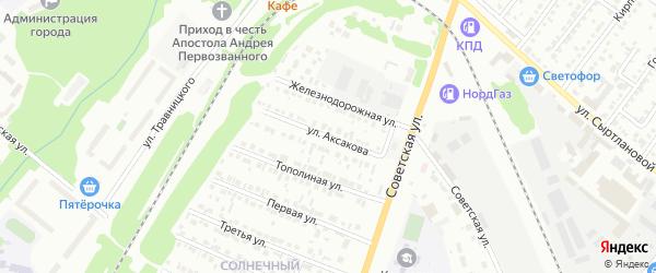 Улица Аксакова на карте Белебея с номерами домов