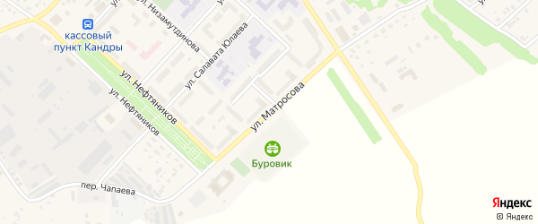 Улица Матросова на карте села Кандры с номерами домов