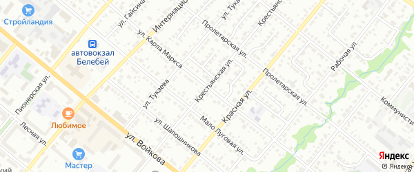 Крестьянская улица на карте Белебея с номерами домов