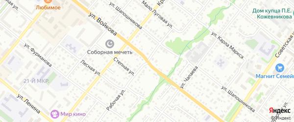 Улица Войкова на карте Белебея с номерами домов