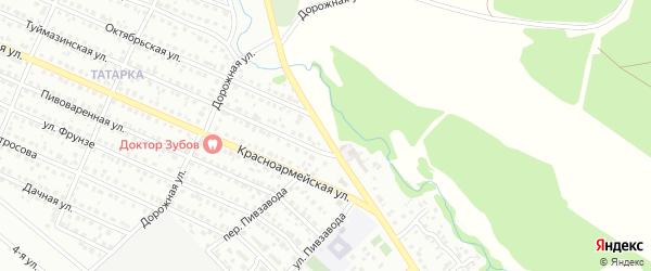 Переулок Пивзавода на карте Белебея с номерами домов