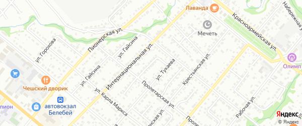 Интернациональный переулок на карте Белебея с номерами домов