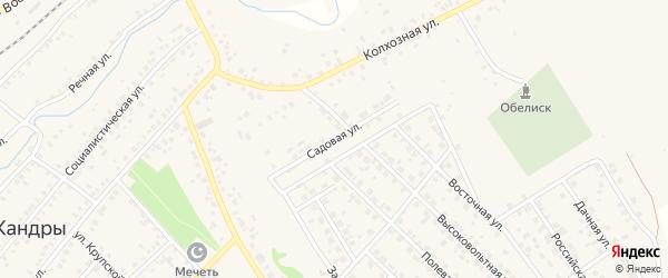 Садовая улица на карте села Кандры с номерами домов