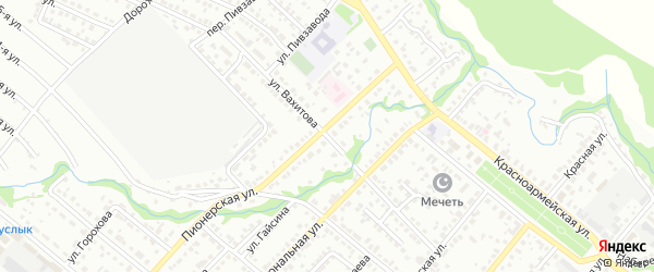 Улица Вахитова на карте Белебея с номерами домов