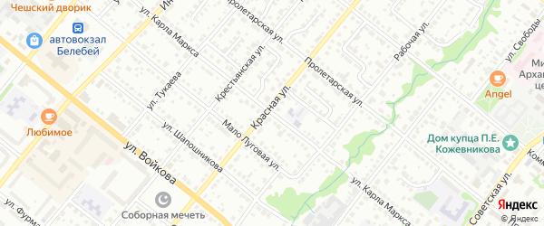 Улица Карла Маркса на карте Белебея с номерами домов