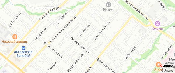 Тукаевский 1-й переулок на карте Белебея с номерами домов