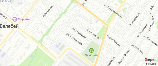 Переулок Чапаева на карте Белебея с номерами домов