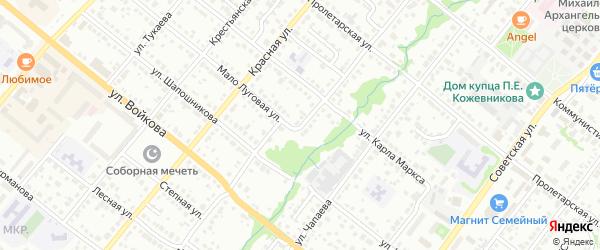 Рабочая улица на карте Белебея с номерами домов