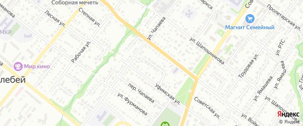 Уфимский переулок на карте Белебея с номерами домов