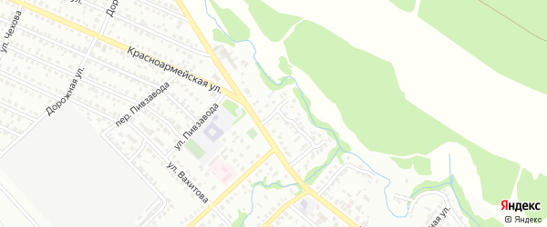 Северный переулок на карте Белебея с номерами домов