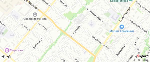 Улица Чапаева на карте Белебея с номерами домов