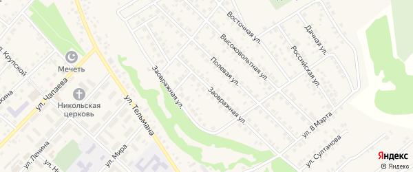 Заовражная улица на карте села Кандры с номерами домов