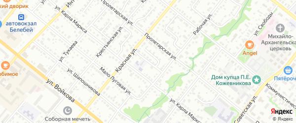 Песочный переулок на карте Белебея с номерами домов