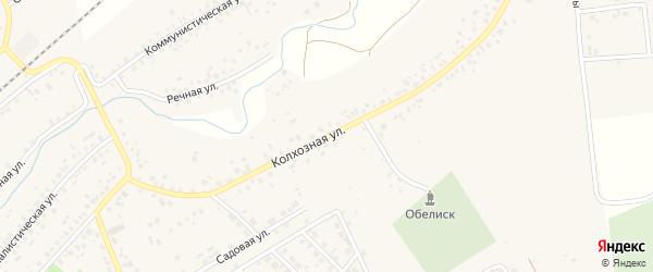 Колхозная улица на карте села Кандры с номерами домов