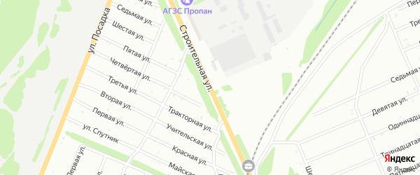 Строительная улица на карте Белебея с номерами домов