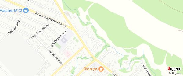 Кузнечная улица на карте Белебея с номерами домов