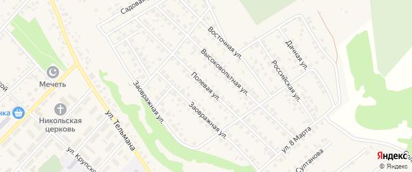 Полевая улица на карте села Кандры с номерами домов