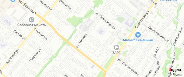 Тупик Шапошникова на карте Белебея с номерами домов