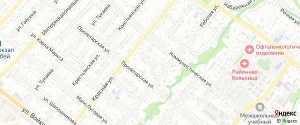 Коммунистический переулок на карте Белебея с номерами домов