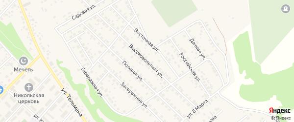 Высоковольтная улица на карте села Кандры с номерами домов