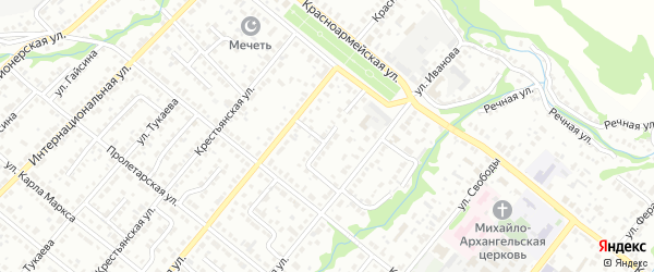 Переулок Ветеранов на карте Белебея с номерами домов