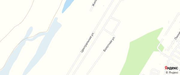 Центральная улица на карте деревни Калтаево с номерами домов