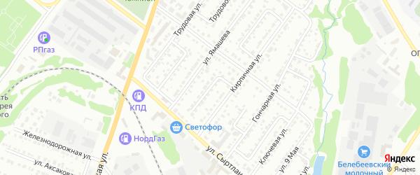 Станционный переулок на карте Белебея с номерами домов