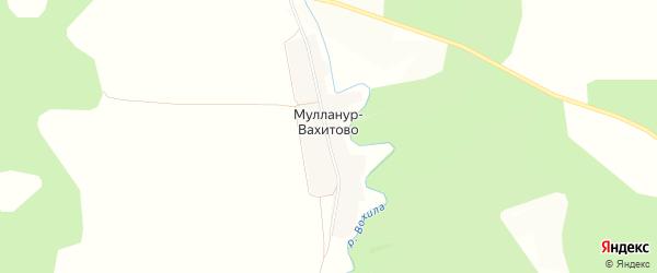 Карта деревни Мулланур-Вахитово в Башкортостане с улицами и номерами домов