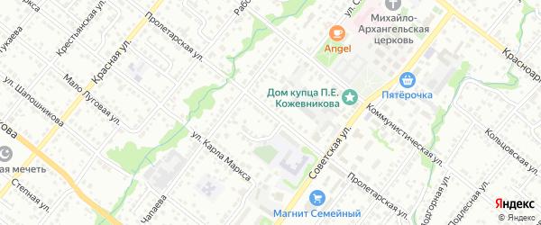 Пролетарская улица на карте Белебея с номерами домов