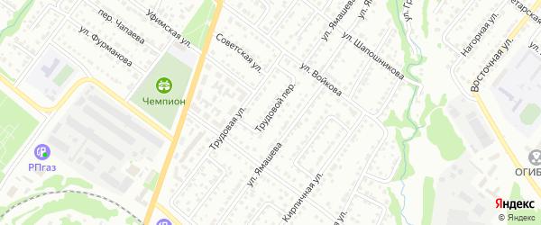 Трудовой переулок на карте Белебея с номерами домов