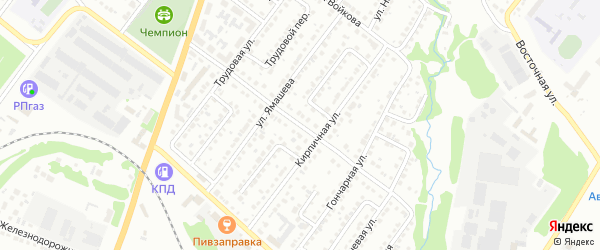 Улица Котомкина на карте Белебея с номерами домов